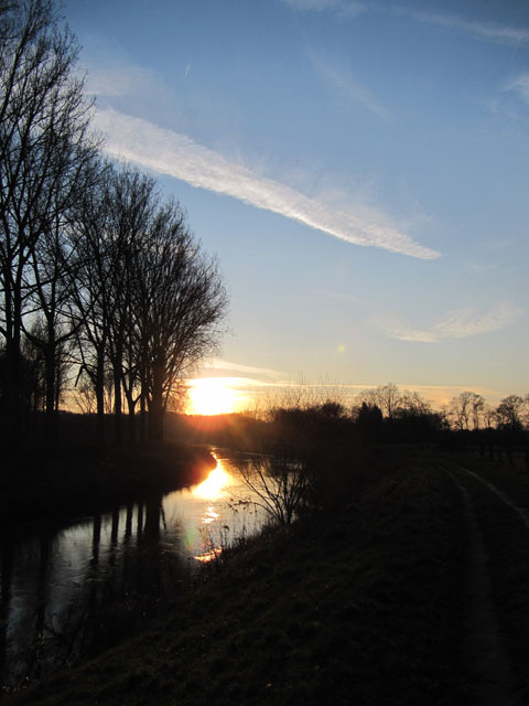 12.01.2013  Sonnenuntergang