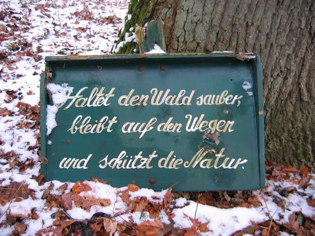 28.01.2005  Haltet den Wald sauber