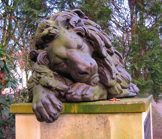 19.01.2005  Schlafender Löwe, Schlosspark