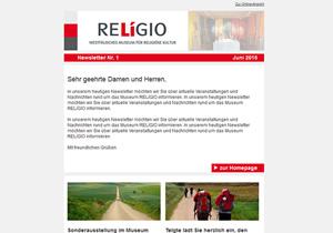 Newsletter Museum Relígio