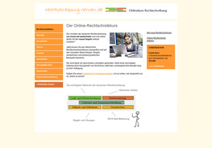 Rechtschreibung lernen - der Online-Rechtschreibkurs für Erwachsene