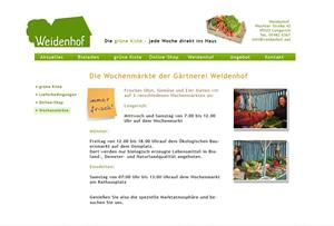 Weidenhof - Die grüne Kiste, Bioladen Lengerich